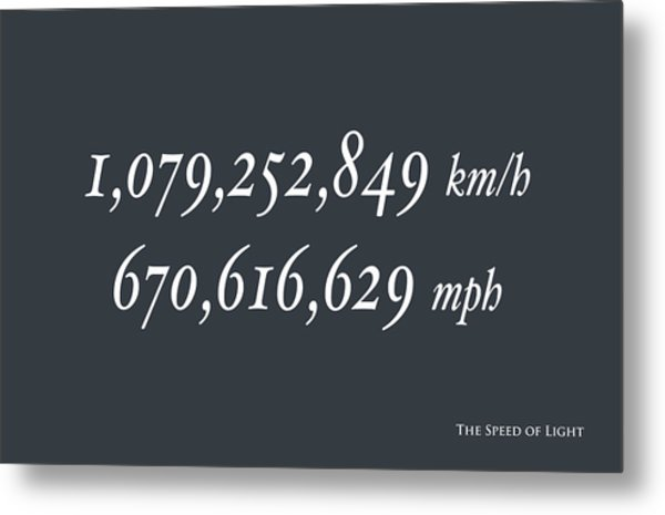 The Speed Of Light Metal Print