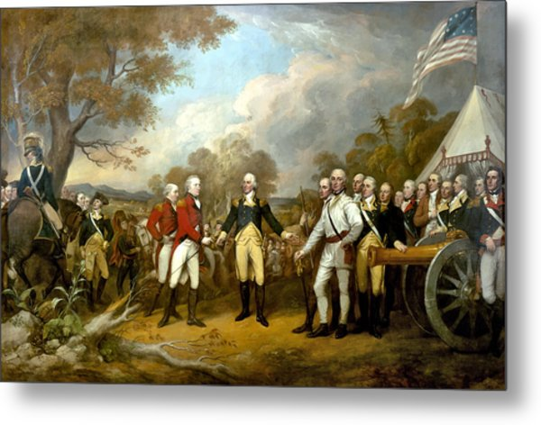 The Surrender Of General Burgoyne Metal Print