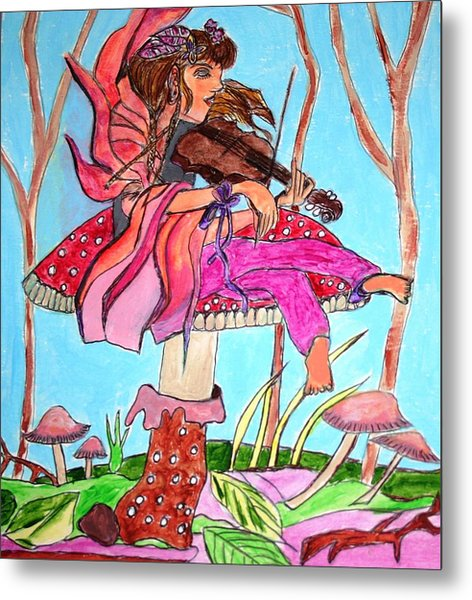 The Violinist Fairy Metal Print