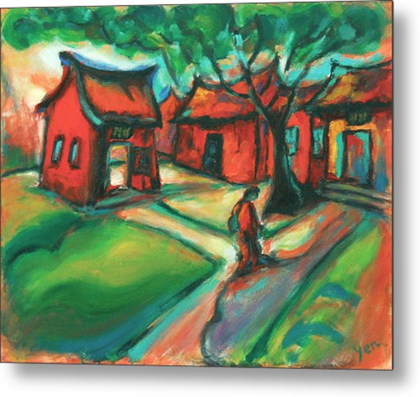 Metal Print featuring the painting The Way by Yen