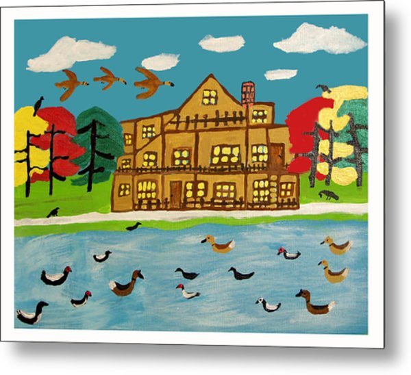 The Wildlife Hotel Metal Print by Betty  Roberts