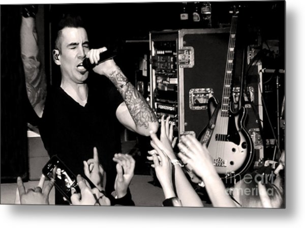 Theory Of A Deadman Tyler Connolly Metal Print