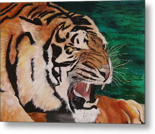 Tiger Paw Metal Print by Shahid Muqaddim