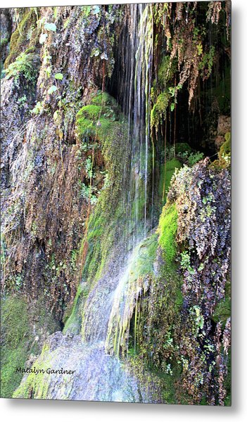 Tonto Waterfall Cave Metal Print
