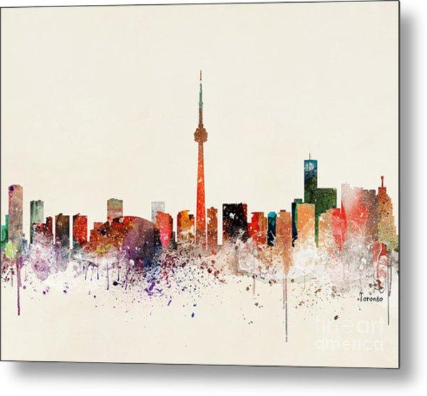 Toronto Skyline Metal Print by Bri Buckley