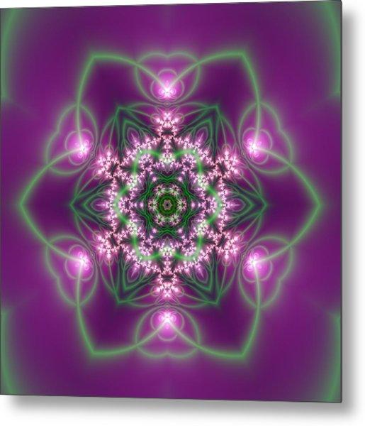 Metal Print featuring the digital art Transition Flower 6 Beats 3 by Robert Thalmeier