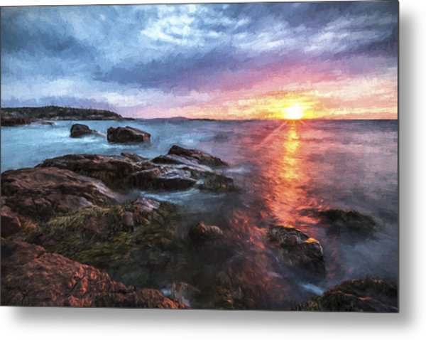Trembling On The Shore Metal Print by Jon Glaser