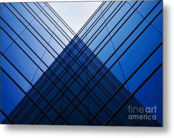 Triangle Reflection Metal Print by Hideaki Sakurai