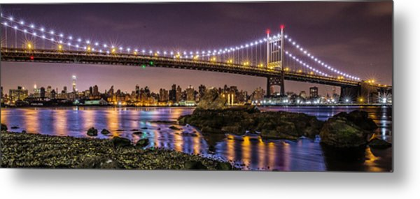 Triboro Bridge Metal Print