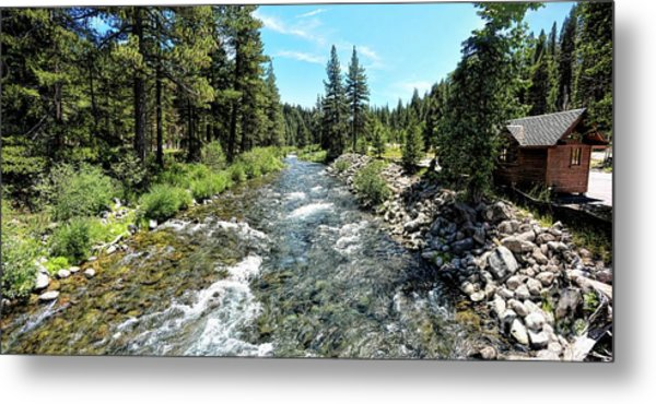 Truckee River In Tahoe City Metal Print