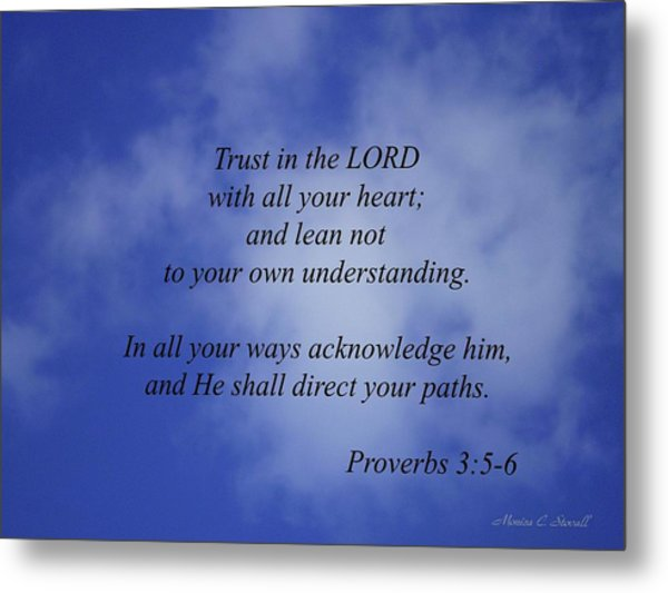 Trust In The Lord... Metal Print