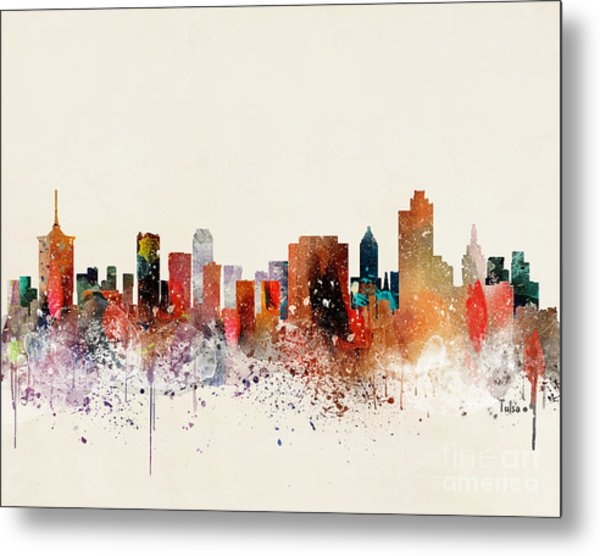 Tulsa Skyline Metal Print by Bri Buckley