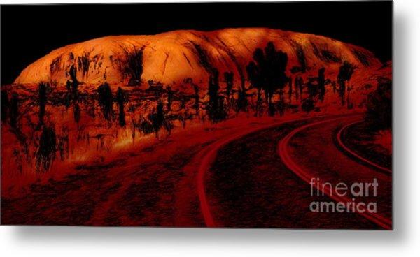 Uluru Sunrise Metal Print
