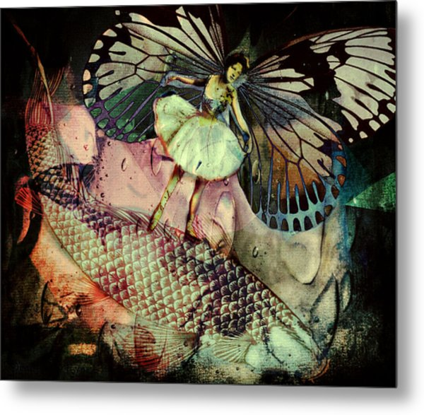 Metal Print featuring the digital art Underwater Ride by Delight Worthyn