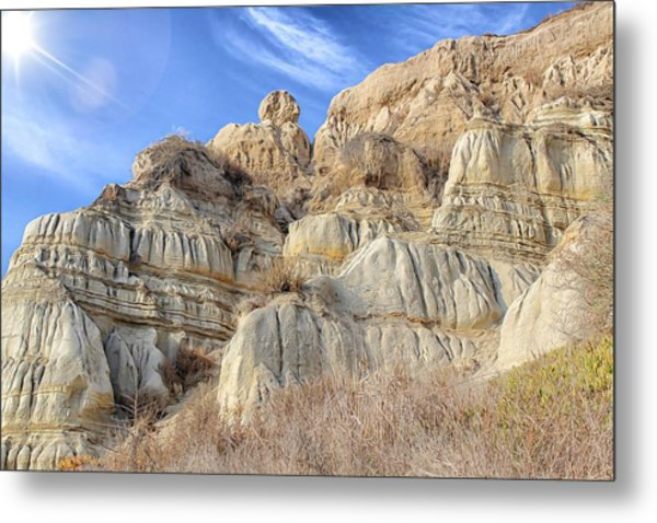 Metal Print featuring the photograph Unstable Cliffs by Alison Frank