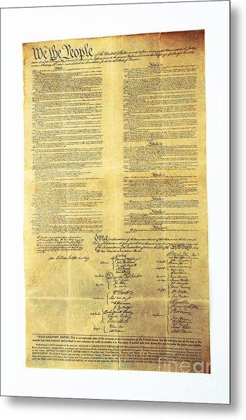 U.s Constitution Metal Print