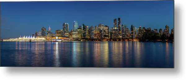 Metal Print featuring the photograph Vancouver City Twilight by Pierre Leclerc Photography