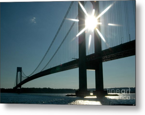 Verrazano Bridge Starburst Metal Print
