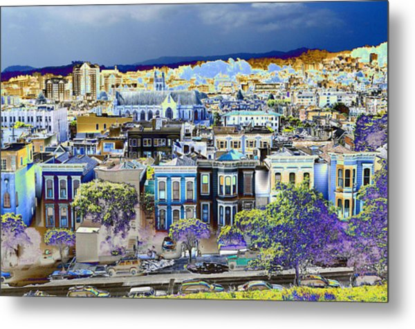 View From Alta Plaza Metal Print