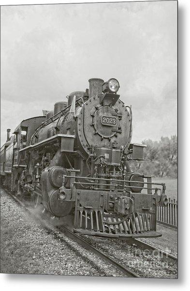 Vintage Steam Locomotive Metal Print