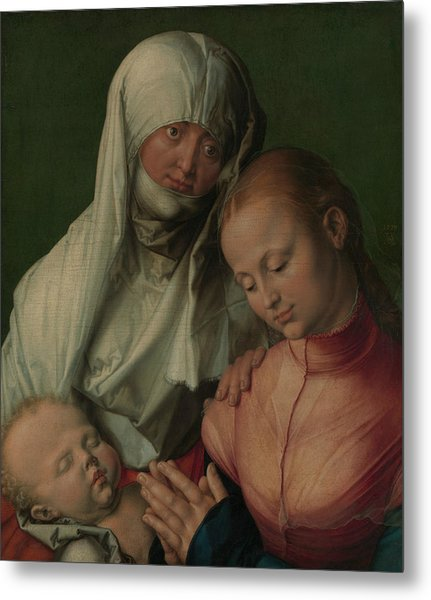 Virgin And Child With Saint Anne Metal Print