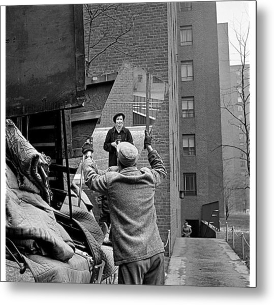 Vivian Maier Self Portrait Probably Taken In Chicago Illinois 1955 Metal Print