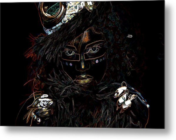 Voodoo Woman Metal Print