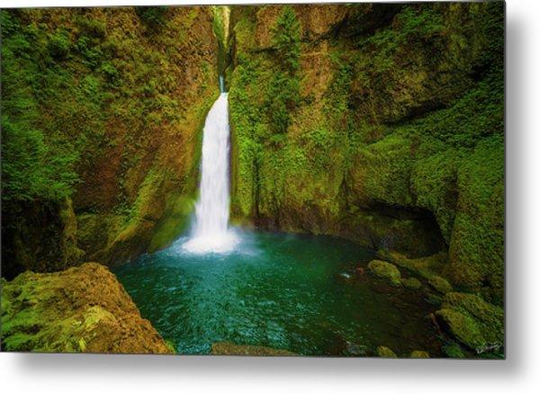 Wahclella Falls Columbia River Gorge Metal Print
