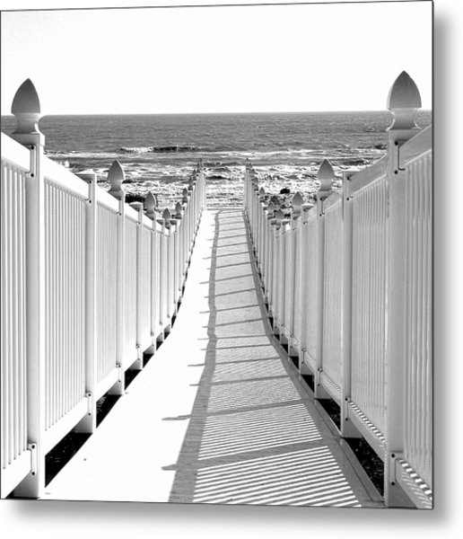 Walkway To Beach Metal Print