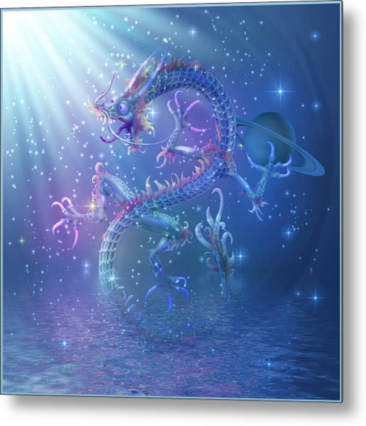 Water Dragon Metal Print