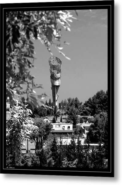 Water Tower Metal Print by Arik Baltinester