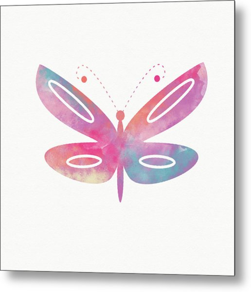 Watercolor Butterfly 2- Art By Linda Woods Metal Print