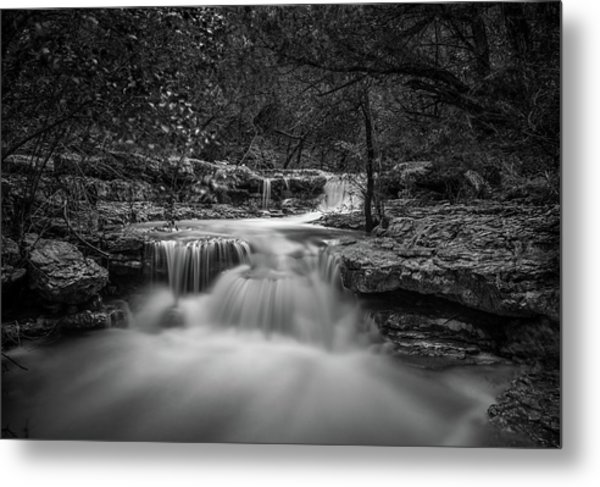 Metal Print featuring the photograph Waterfall In Austin Texas by Todd Aaron