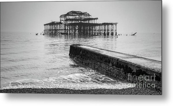 West Pier At Brighton Metal Print by Colin and Linda McKie