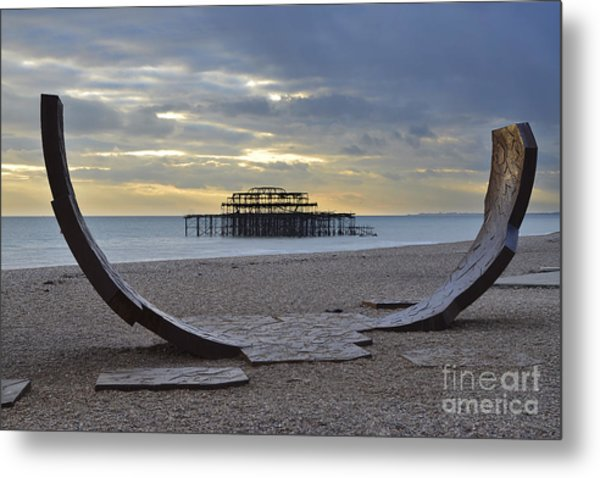 West Pier Brighton Metal Print