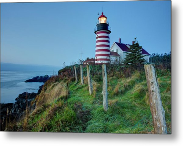 West Quoddy Head Light Metal Print