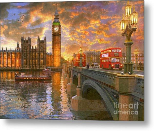 Westminster Sunset Metal Print