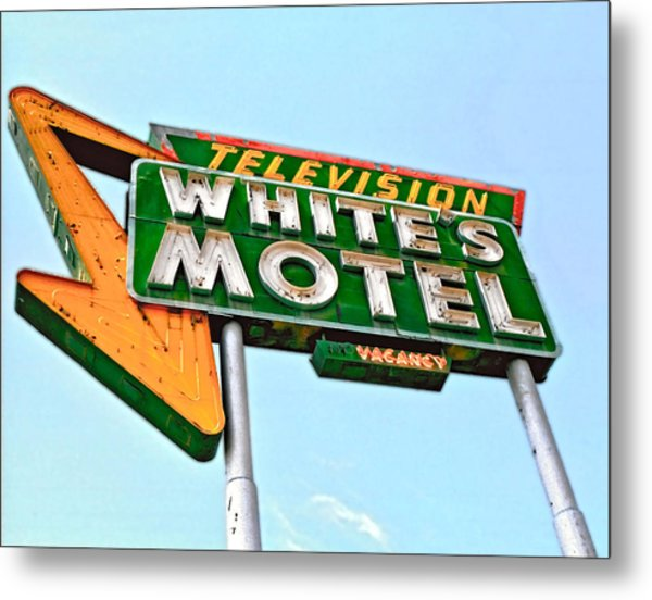White's Motel Metal Print