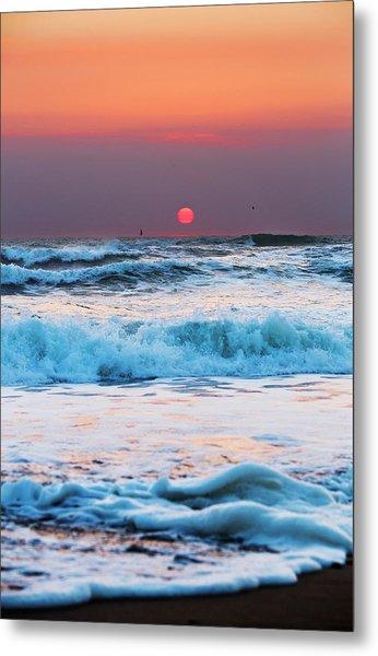 Widemouth Sunset, Cornwall Metal Print