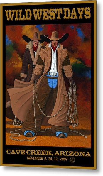 Wild West Days Poster/print  Metal Print