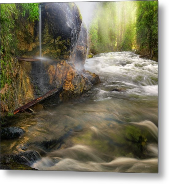 Metal Print featuring the photograph Wilderness Hot Springs by Leland D Howard