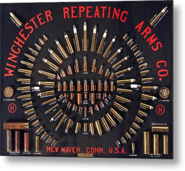Winchester Repeating Arms Cartridge Board Metal Print
