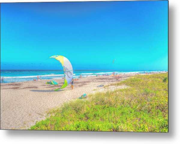 Windsurf Beach Metal Print