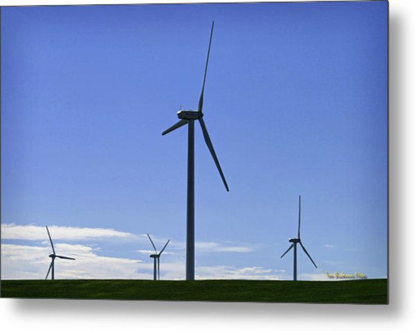 Windy Power Metal Print