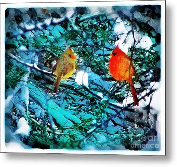 Winter Love Metal Print by Gina Signore