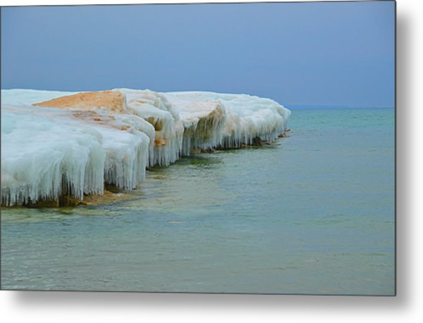 Winter Sculpting Metal Print