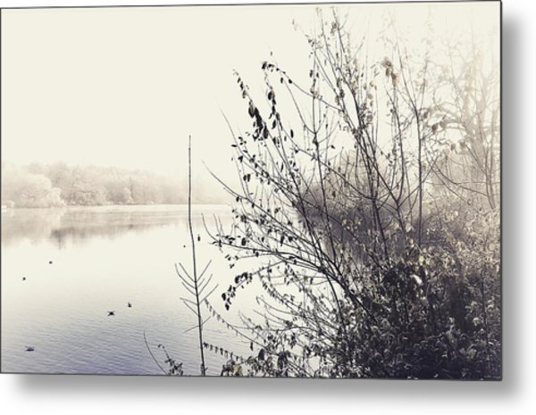 Winter's Morning At The Mote  Metal Print by Stuart Ellesmere