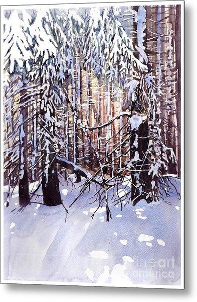 Wintertime Painting Metal Print