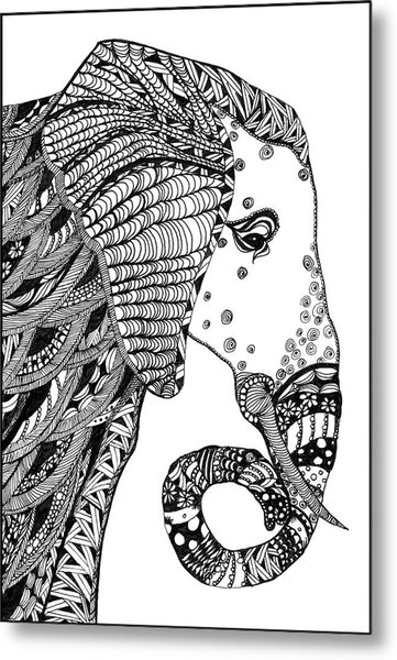Wise Elephant Metal Print