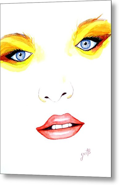 Woman Scent Watercolor Painting Metal Print